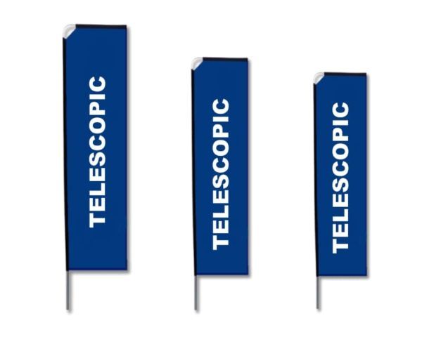 Aluminium Telescopic Flag - Display BANNER