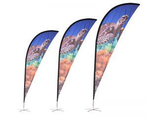 Sharkfin MFP Fibreglass Flags