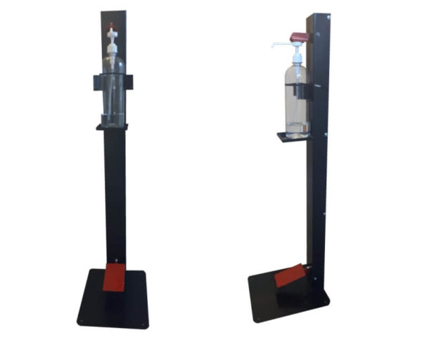 Deluxe Hand Sanitizing Stand which is Foot Operated